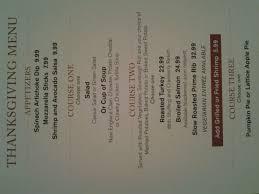 thanksgiving menu at fremont claim jumper yelp