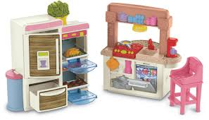 How To Make Dollhouse Furniture Out Of Household Items Amazon Com Fisher Price Loving Family Kitchen Toys U0026 Games