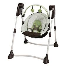 portable baby swing with lights amazon com graco swing by me 2 in 1 portable swing go green baby