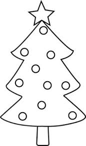 christmas tree clip art black and white many interesting cliparts