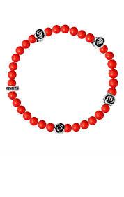 bracelet red images Mens red coral bracelet rose bead bracelets for men king baby jpg
