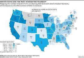 Republican States Map by What The Two Most Innovation Friendly States Have In Common