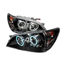 lexus is300 headlight assembly 01 05 lexus is300 black dual ccfl halo projector led headlights