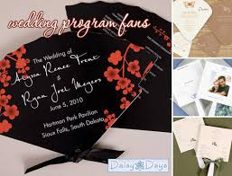 Wedding Program Hand Fans Wedding Program Fans Perfect For Summer U0026 Outdoor Weddings