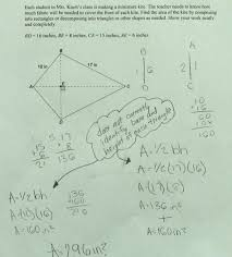 area of kite students are asked to find the area of a kite by