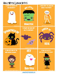 halloween lunchbox ideas and free lunchbox notes family fresh meals