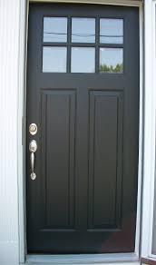 exterior simple and nice front door design with dark single door