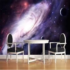 galaxy wall mural 3d purple galaxy wallpaper for bedroom charming wall mural silk