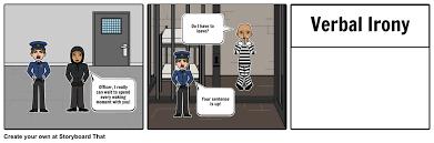 verbal irony example storyboard by bailey blandford