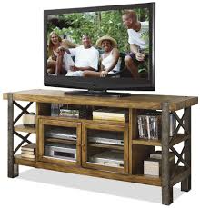 Bobs Furniture Farmingdale by Riverside Furniture Sierra 68 Inch Tv Console With 2 Doors