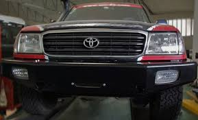 toyota land cruiser bumper afn toyota landcruiser 100 winch bumper coast road centre