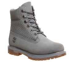 womens grey boots uk timberland premium 6 boots grey nubuck emboss ankle boots