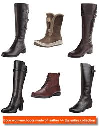 womens boots ecco ecco and mens boots made of leather for outdoor and casual