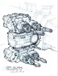 george hull turret for matrix revolutions character design