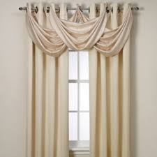 Bed Bath And Beyond Window Valances Insola Odyssey Grommet Top Insulating Window Curtain Panel