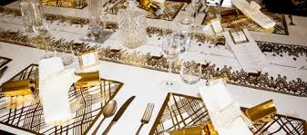 reindeer gold foil christmas table runner u2014 place matters