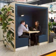Unique Office Furniture Pods With Nook And Living Walls Inside - Unique office furniture