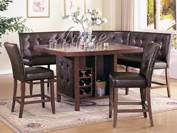 bravo 6 piece dining room set counter height table corner seating inside counter height dining set with bench decorating jpg