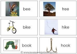 printable rhyming words additional phonics lessons by montessori print shop