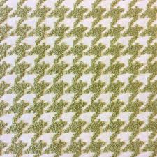 houndstooth moss green geo grid heavy chenille textured upholstery