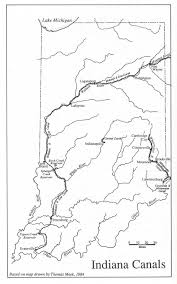 Ohio Canal Map by U S Canal Maps