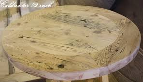 24 round pedestal table reclaimed wood pedestal table with lazy susan 9 blog