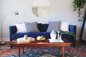 scandinavian style living room sofa scandinavian style dark blue velvet south cone home