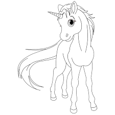 coloriage licorne onchao