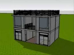 3d animated construction of 2 storey commercial building youtube
