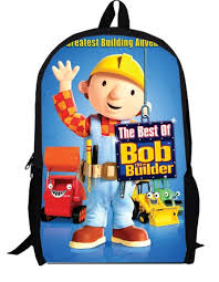 13inch bob builder backpack children anime primary bags