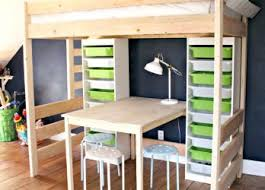 marvellous loft bed with closet underneath for plans desk and walk