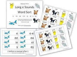 pokemon worksheets spelling longe word sort pokemon theme slp
