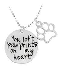 engraved heart necklace silver claw footprint engraved heart necklace rosegal