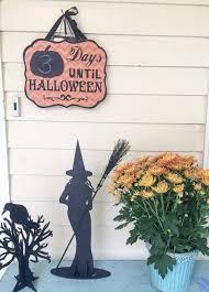 halloween countdown neighborhood decorations and scarecrow mix