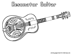 resonator guitar coloring pages places to visit pinterest