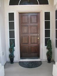 furniture modest big front door with solid oak wood materials