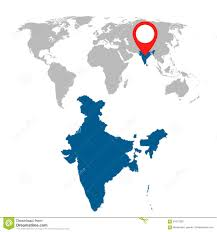 World Map Poster India by Detailed Map Of India Royalty Free Stock Photo Image 9297115