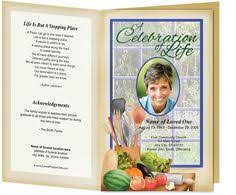 funeral programs and obituary programs football sports theme