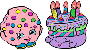 coloring pages shopkins kooky cookie and birthday cake coloring