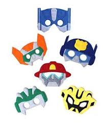 transformer rescue bots party supplies kids mask transformers costume rescue bots party