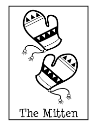 mittens coloring pages printable get coloring pages