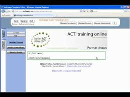 how to create act email marketing templates betteractnow training