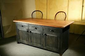 Black Distressed Kitchen Island by Hand Crafted Rustic Barn Wood Kitchen Island By Ecustomfinishes
