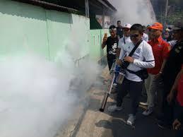 Sisir Indo okezone aksi fogging tim rescue perindo sisir perkungan di