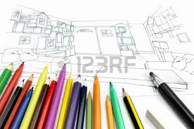 Interior Painting Tools Architects Workspace Picture With Living Room Sketch And Painting