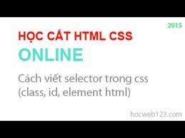 html online class học html css 13 cách viết selector trong css class id