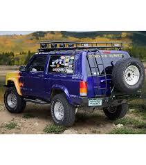 jeep cherokee rear bumper jeep cherokee xj ranger rack multi light setup no sunroof