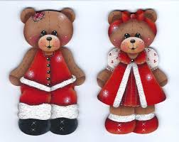 242 best pintura country navidad images on teddy bears