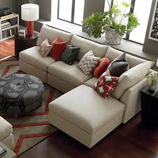 beckham small chairse sectional bassett home furnishings
