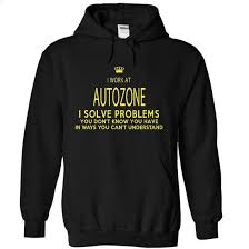 i work at autozone i sovle problem t shirts for sale kids